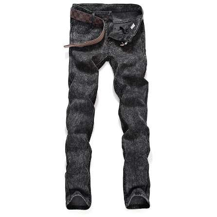 hommes jeans marque mode Snow Wash Slim Skinny Denim Jeans Elastic Straight Jeans haute qualité Men Little feet pants