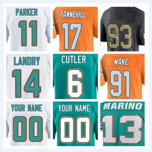 size 40 20858 eb21f 2019 Custom Miami Dan Marino Dolphins Jersey Kiko Alonso DeVante Parker  Salute To Service Vapor Authentic American Football Jerseys 4xl Cheap 4xl  From ...