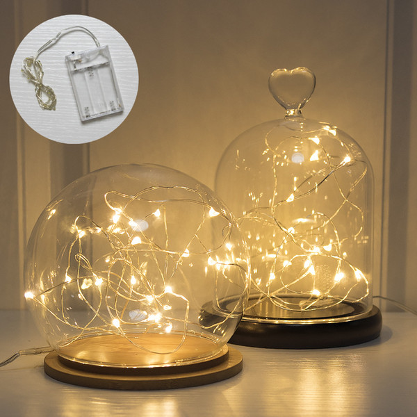 2 m battery box lamp string led copper wire dormitory bedroom Korean wind decoration star lamp balloon lamp string