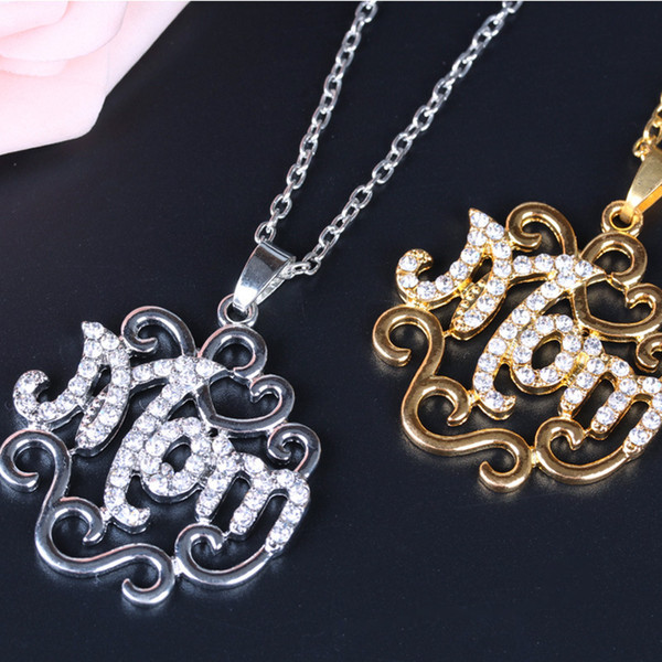 New personalized letter stainless steel necklace simple fashion long clavicle chain