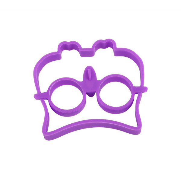 free shipping eeg Mold Silicone Purple Owl Pattern DIY Pancake Non Mould For Kid Breakfast Kitchen Creative Fried Egg Cooking ToolsZI-345