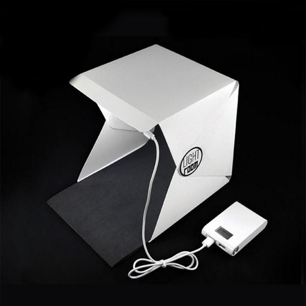 BrightBox Portable Mini Photo Studio con LED Light Tavolo pieghevole Top Fotografia Kit Tenda di illuminazione con 2pcs Sfondi Imballaggio Aicoo
