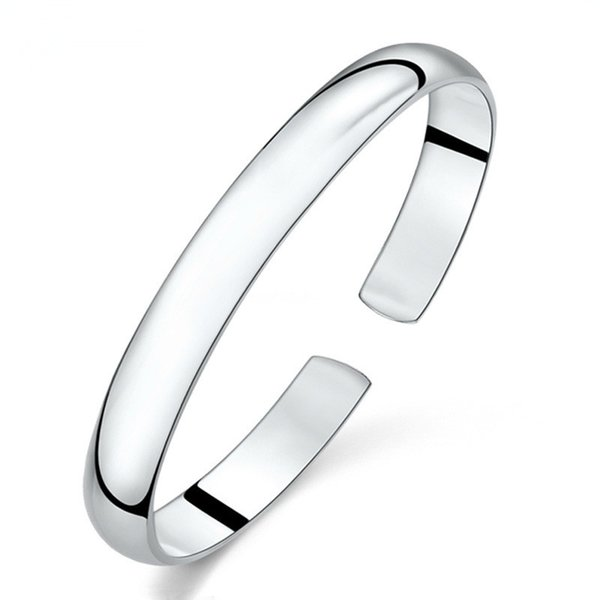 100% 925 sterling silver fashion simple design ladies`bangles jewelry no fade women wholesale bangle drop shipping cheap
