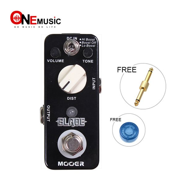 Mooer Blade Metal Distortion Guitar Effect Pedal 3 Working Modes Lo Boost/Boost Off/Hi Boost Full Metal Shell True Bypass