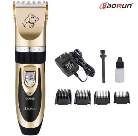 Baorun Professional Pet Dog Hair Trimmer Cat Animals Grooming Clippers Rechargeable Electric Haircut Machine Shaver 110-240V AC