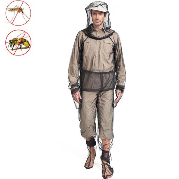 Анти комаров одежда для открытый рыбалка кемпинг охота Мужчины Женщины быстросохнущие дышащей сетки чистой насекомых предотвратить sui