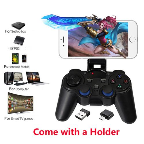 Portable 2.4G Wireless Game Controller Gaming Joystick Handle Gamepad Joypad For PS3 Android TV Box OTG Smart Phone Tablet PC