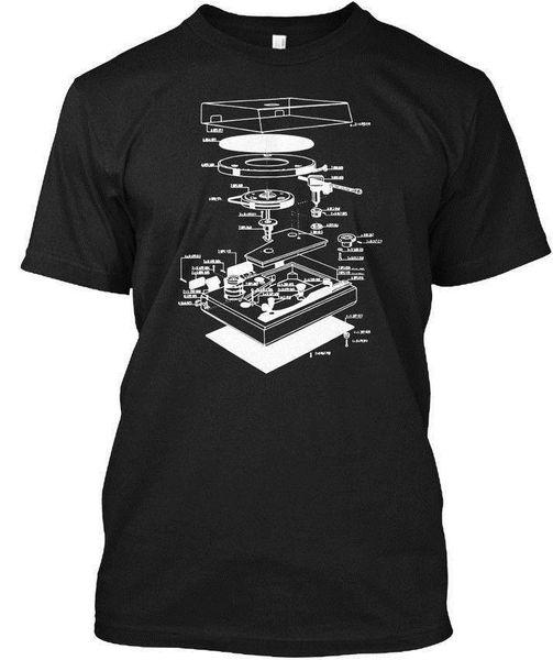 Turn Tisch Dj Schaltplan Großhandel Cool Casual Ärmel Baumwolle T-Shirt Mode Neue T Shirts Unisex Lustige Tops T WholesaleTagless Tee T-Shirt