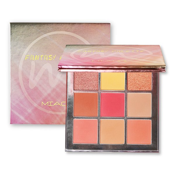 Miaool 9 Colors Shimmer Matte Eyeshadow Palette Warm Tone Eye Shadow Makeup Palette Beauty Pink Eye Make Up Set