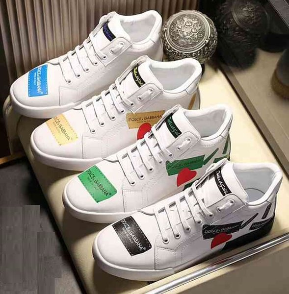 Brand Men Cow leather Low Top sports shoe Classic 3D Print Fashion sneakers Street Dance Skateboarding Shoes.38-44