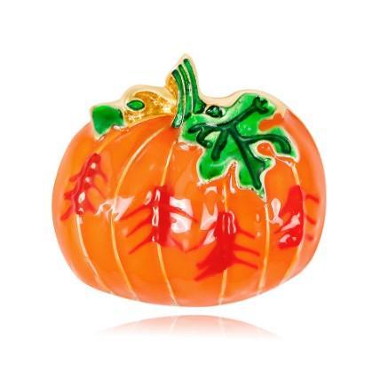 High End Halloween Pumpkin Brooch Pin Unisex Pumpkin Hat Brooch Pin Halloween Thanksgiving Jewelry Gift Idea