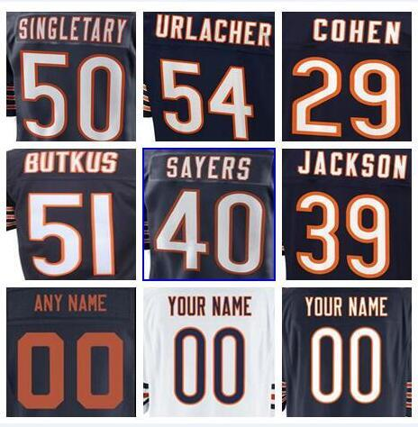 best cheap 90d97 fb185 2019 Hot Sale Chicago Mitchell Trubisky Bears Jersey Custom Eddie Jackson  Walter Payton Authentic Sports Youth Kids American Football Jerseys 4xl  From ...