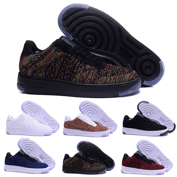Acquista Nike Flyknit Air Force 1 One Moda Uomo Scarpe Low One 1 Uomo Donna Cina Casual Scarpe Fly Designer Royaums Tipo Breathe Skate Knit Femme