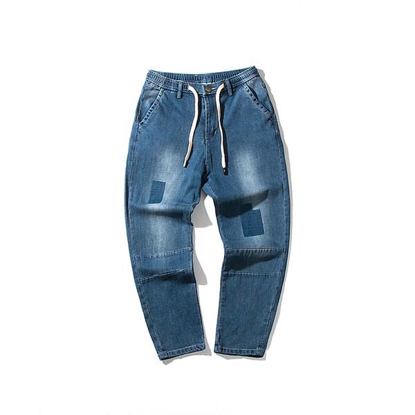Jeans men 2018 Men Jeans Runway Patchwork Jean Fashion Hiphop Skinny For Man Hot sale Punk style Lightweight Denim Pants