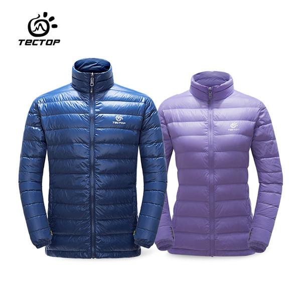 Tectop outono Inverno homens mulheres Para Baixo Casacos ao ar livre ultra-leve À Prova D 'Água à prova de vento casacos quentes Térmicos camping caminhadas outwear