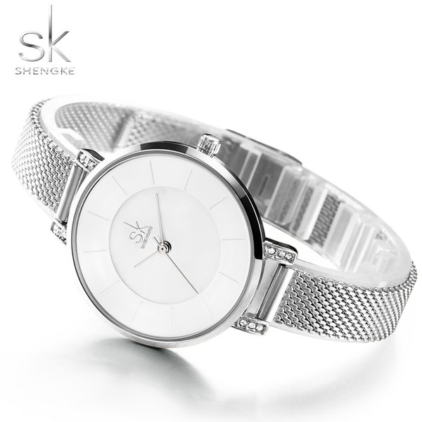 Shengke Original Bracelet Watches for Lady Fashion Dress Gold Charming Chain Style Luxury Quartz Women Watch Female Montre FemmeY1883105