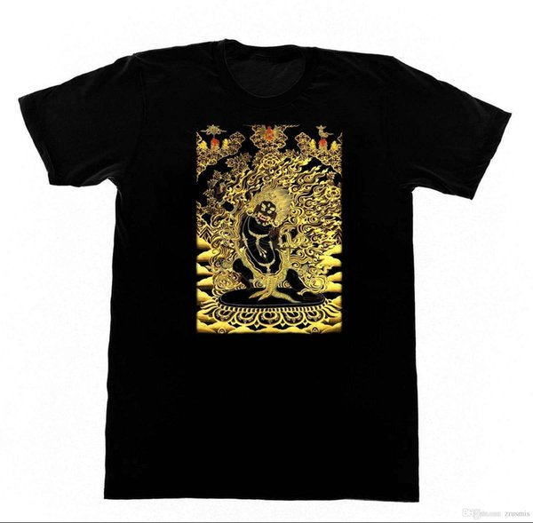 VAJRAPANI DHARMAPALA T-Shirt 85 T-Shirt Buddha Yogaer buddhistische Kung Fu heiliger neuer kurzer Hülsen-Rundkragen-Herren-T-Shirts