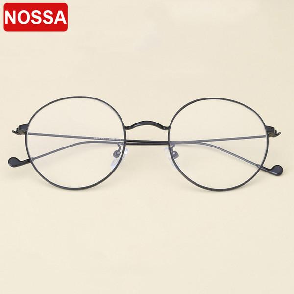 2018 Simple Designer Vintage Metal Glasses Frames Casual Round Goggles Women Men Optical Glasses Myopia Trendy Eyewear Frame