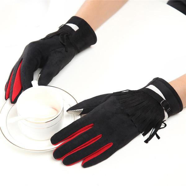 Casual hiver gants femmes dames patchwork de coton épaissir gants chauds sports de plein air Handschoenen mitaines Guantes Mujer