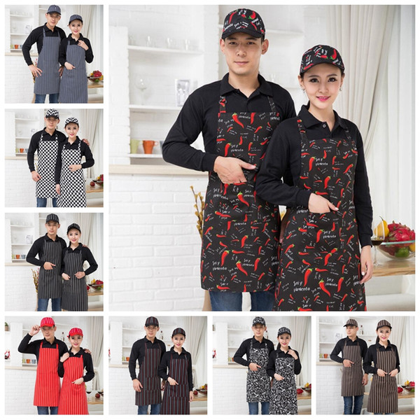 best selling Hot sale Chef Apron Hotel Restaurant Kitchen Cooking Apron Cafe Long Hanging Neck Adults Waterproof Apron
