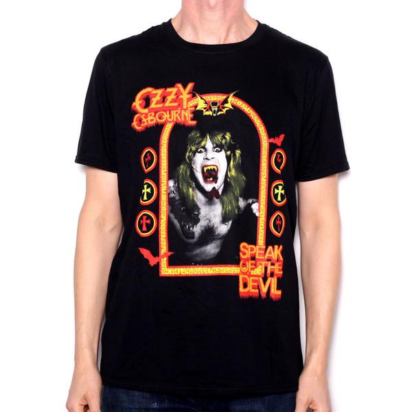 Ozzy Osborne T Shirt - Speak Of The Devil 100% Official Black Sabbath Cult Rock O-Neck T shirt Homme Letter Printing