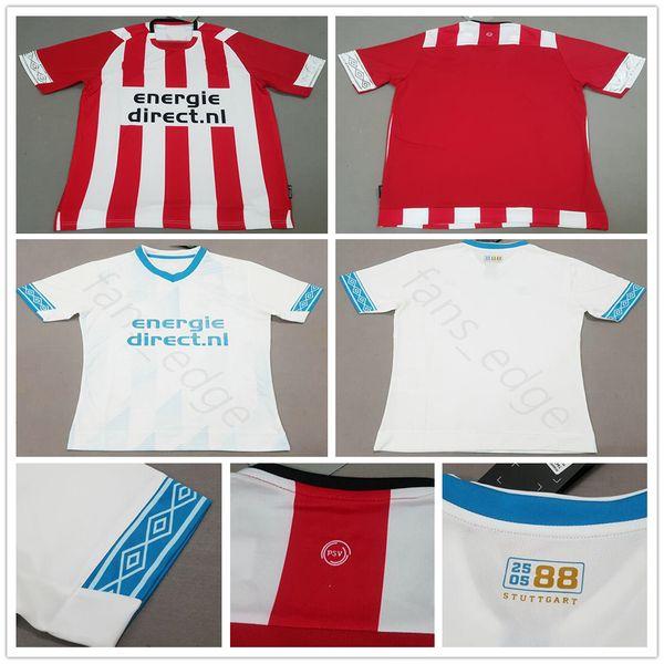 2018 2019 Eindhoven camisetas de fútbol H.LOZANO V.GINKEL L.DE JONG PEREIRO LAMMERS Custom Home Away Red White 18 19 Camiseta de fútbol