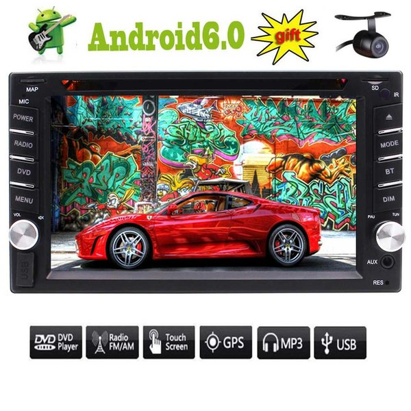 Double Din Autoradio Android 6.0 Car Stereo 6.2'' Video Audio Player In Dash Headunit Autoradio Bluetooth GPS Navigation Mirrorlink car dvd
