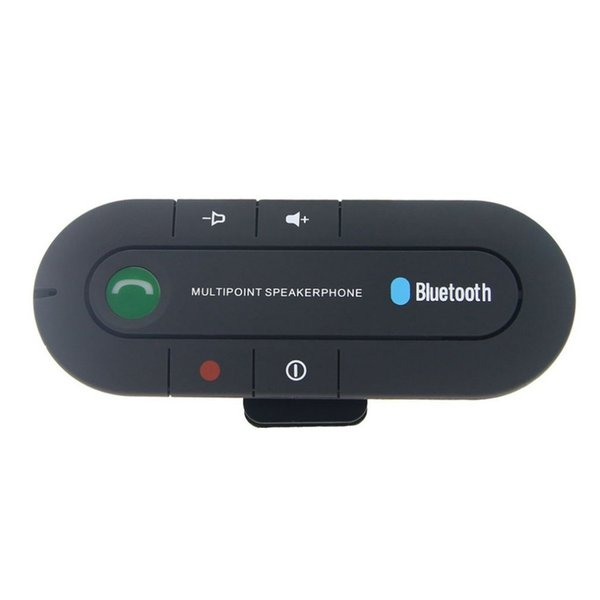 Black Wireless Bluetooth 4.1 Hands-free Car Charger Sun Visor Speakerphone Car Kit Bluetooth Receiver Speaker MP3 Music Player