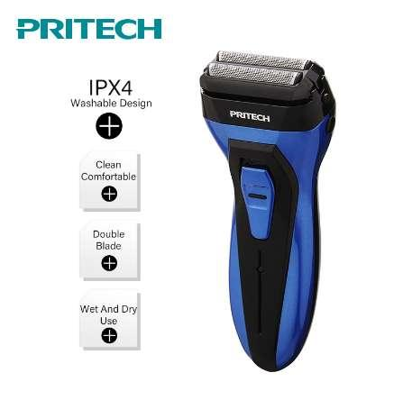 PRITECH 2018 Electric Shaver Rechargeable Electric Razor Shaver For Men Reciprocating Floating Shaving Machine Wet Dry Use