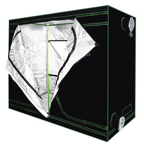 Reflektierendes Mylar wasserdichtes Wachsenzelt Grünes Betriebszimmer mit Observation Fenster- und Boden-Behälter für die Innenblumen-Betriebswachstum Dismountable