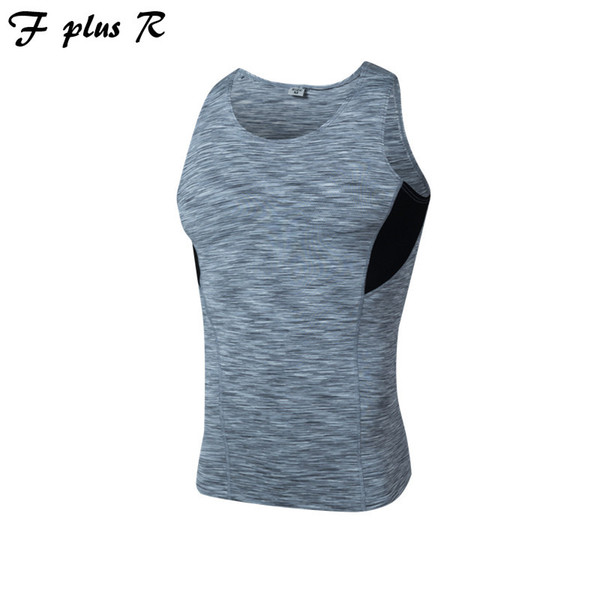 F plus R Mens Crossfit Tank Tops Kompressionsweste für Männer T-shirts Ärmellos Schnell Trocknend Fitness Layer Kleidung Sportwear