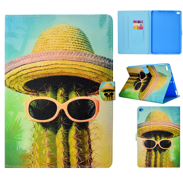 Tablets Case For iPad Air Cover Fashion painting PU Leather Wallet Bag Card slot Dormancy function Tablet Cases For iPad Air 2