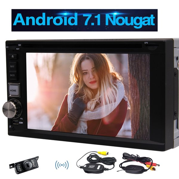Android 7.1 Car Stereo 2GB RAM+32GB ROM 6.2'' Double Din HeadUnit WIFI GPS Sat Nav Bluetooth Radio USB SD Car DVD