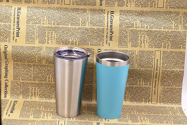 New 16oz double walled vacuum in ulated tumbler tainle teel mug beer milk cup 16oz pint gla