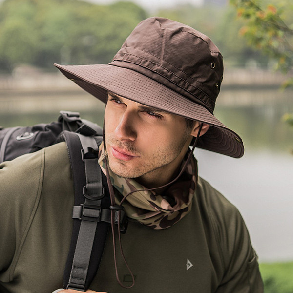 Camping plein air chapeau pliant hommes femmes été à séchage rapide chapeau de pêche parasol chapeau de protection solaire pour la pêche casquette d'alpinisme