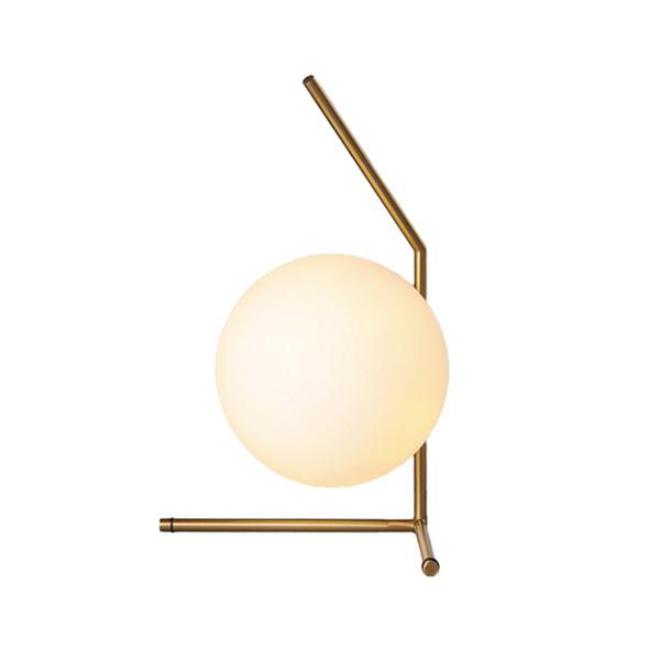 Modern Dia 20cm White Glass Ball Table Lamp For Bedroom Study Bedside Desk Light Art Deco Home lighting F031