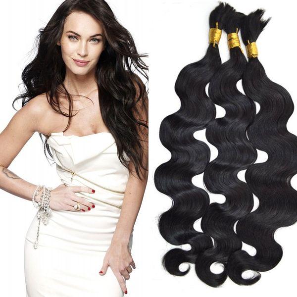 Human Hair Bulk For Braiding Russian Human Hair Extensions 3 Bundles Body Wave Bulk Hair Non Processed G-EASY