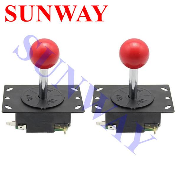 Manette en métal de bricolage d'arcade classique de 2 PCS avec la mini manette de jeu pour la machine de jeu d'arcade