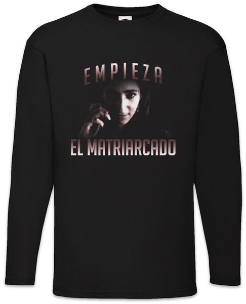 Empieza El Matriarcado Men Long Sleeve T-Shirt Money Mask La Casa Heist de Papel