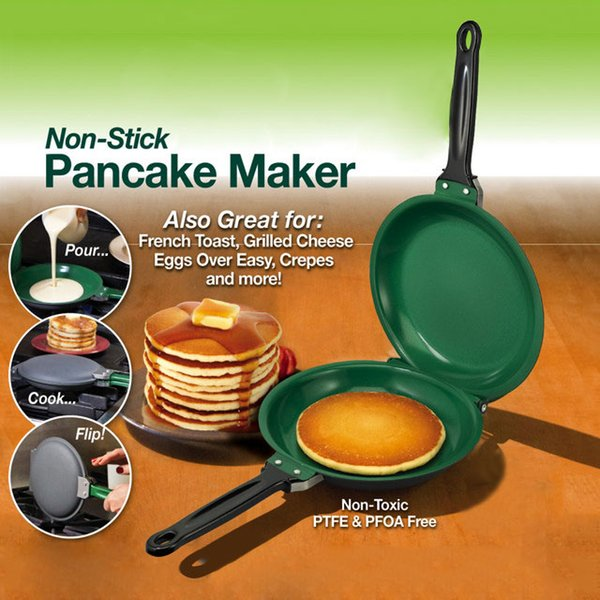 Flip Ceramic Pancake Maker Molds Diy Pizza Eggs Cake Omelette Frying Pan Kitchen Baking Tools Non -Stick Pancake Maker