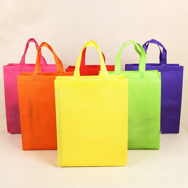 best selling candy color plain non-woven vertical version bags custom tote bags customized recycled reusable shopping bags print your design wholesale.