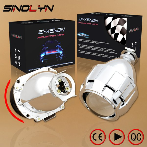 Sinolyn Automobiles Upgrade Mini 2.5'' 7.1 Version HID Bi xenon Projector Lens H1 Headlight Retrofit H4 H7, Super Bright Clear