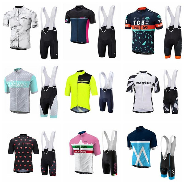 2018 Morvelo ORBEA Cycling Jersey Set MTB Bike Cycling Clothing Summer Men Racing bicycle Clothes Ropa Ciclismo MTB Sportswear 90512J