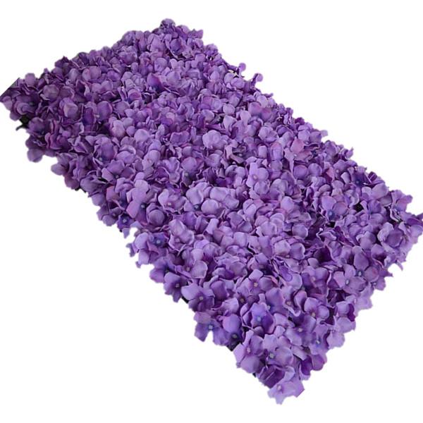 Wholesale-FJS-Noble Carpet type Hydrangea DIY wedding Setting wall decoration Road led flower T stage decoration Photo background purple