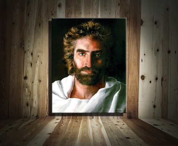 top popular Jesus Christ by Akiane Kramarik Modern Abstract Canvas Oil Painting Print Wall Art Decor for Living Room Home Decoration(Unframed Framed) 2019