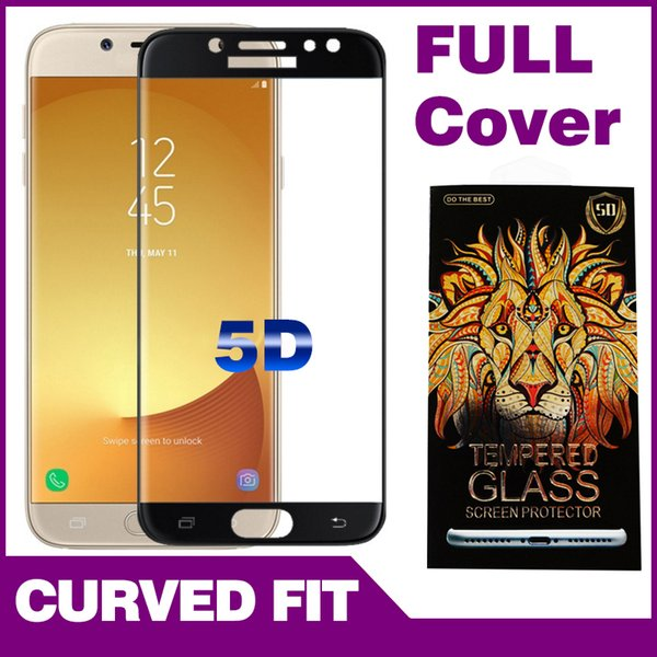 Phone Screen Protectors For Samsung A3 A5 A7(2017) Nokia 5 3D surface Front phone protective film with Color Box