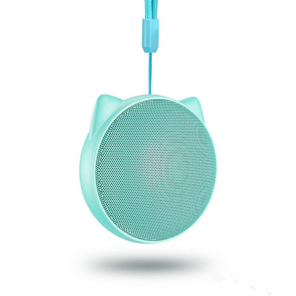 2018 cat ear bluetooth speakers mp3 player Built-in microphone For apple iphoneX iphone8 plus 7 6S soft PU cell phone Players