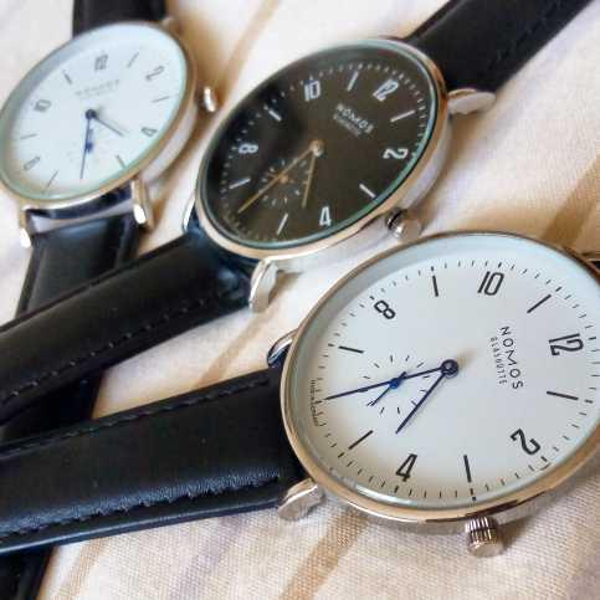NOMOS Watches Brand men and women Minimalist design Leather strap Women Fashion Simple Quartz Water Resistant Watches
