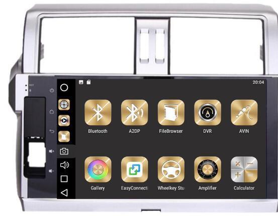 8-Core 4GBRam 32GB Rom Android 8.0 10.2inch Car Dvd Gps for Toyota Prado 150 2014 2015 2016 2017 Support Steering wheel DVR OBD