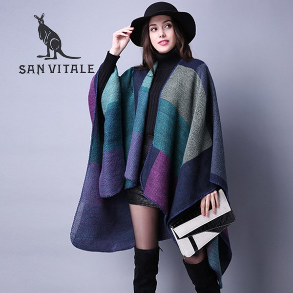 Scarves Women Scarf Pashmina Cashmere Ponchos And Capes Top Quality Plaid For Ladies Pashmina For Dress Luxury Brand Scarfs Y18102010